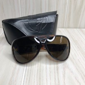 Electric Gauge Tortoise Sunglasses with Case